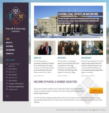 Purcell & Kennedy Solicitors Web Design Waterford