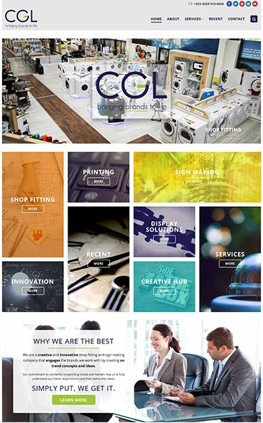 Website Design CGL Retail Solutions