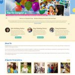 A Sparkle Party website design 370x550