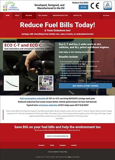 website design reduce fuel bills