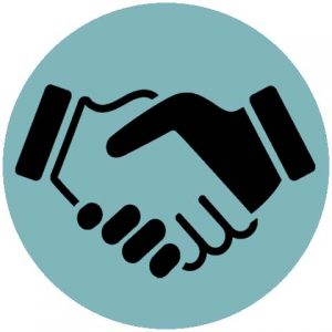 digital marketing handshake icon