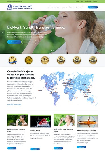 Kangen Water Nordic Website Design