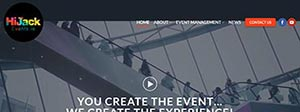 HiJack Events Website Design Portfolio