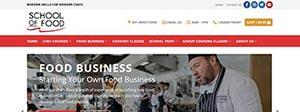School of Food Website Design Portfolio