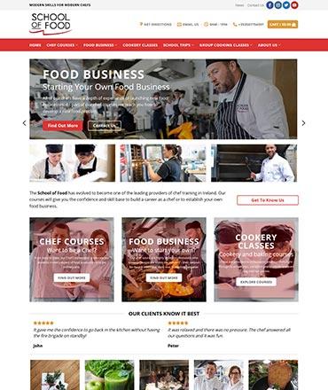 School of Food Website Design