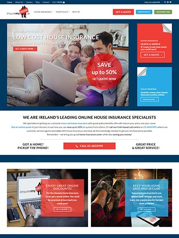 InsureMyHouse.ie Website Design
