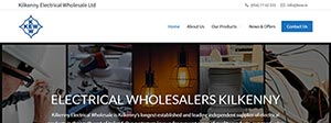 Kilkenny Electrical Wholesale Website Design Portfolio
