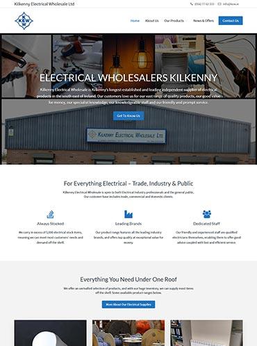 Kilkenny Electrical Wholesale Website Design
