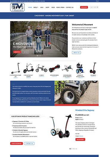 E Movement Website Design