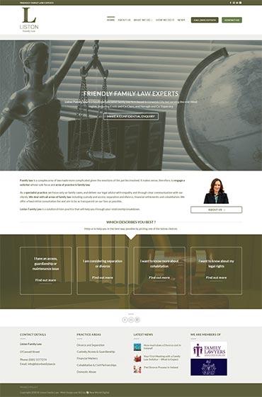 Liston Family Law Web Design