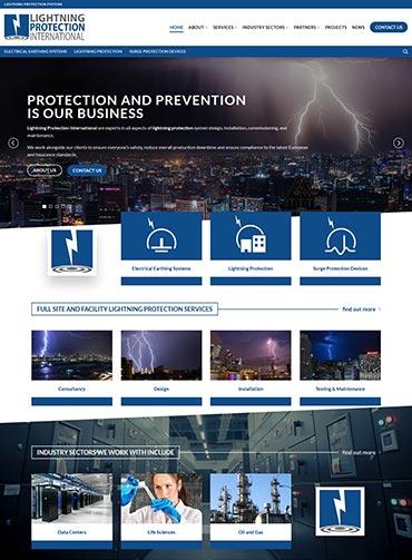 Lightning Protection International Web Design