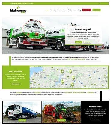 Mulrooney Oil Website Design