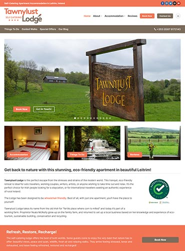 Tawnylust Lodge Website Design