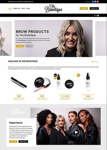 The Browtique Website Design